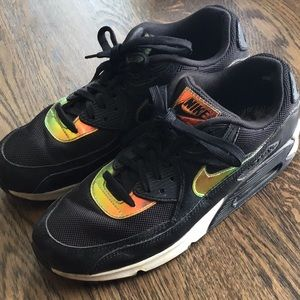 Nike Air with iridescent accents nylon/suede